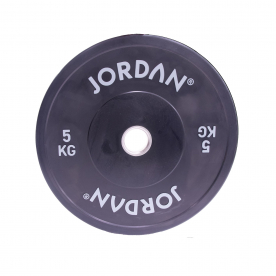 Jordan Fitness 5Kg HG Coloured Rubber Bumper Plate - Black (x1)