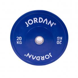Jordan Fitness 20Kg HG Coloured Rubber Bumper Plate - Blue (x1)