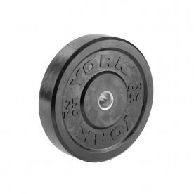 25Kg Solid Rubber Black Bumper Plate %