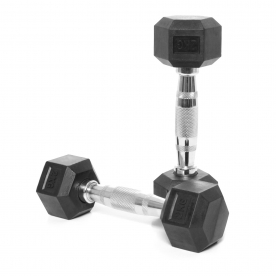 Body Power 2Kg Rubber Hex Ergo Dumbbells (x2)