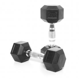 Body Power 6Kg Rubber Hex Ergo Dumbbells (x2)