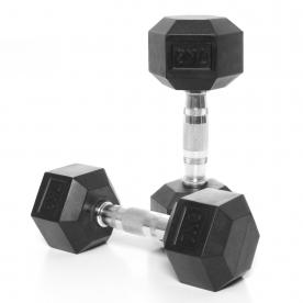 Body Power 7Kg Rubber Hex Ergo Dumbbells (x2)