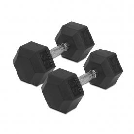 30kg Rubber Hex Dumbbells (x2)