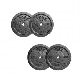 80kg Standard Weight Plate Set (2x 1