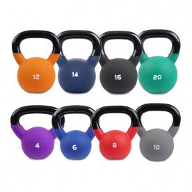 Body Power Neoprene Covered Kettlebell Set (4kg - 20kg)