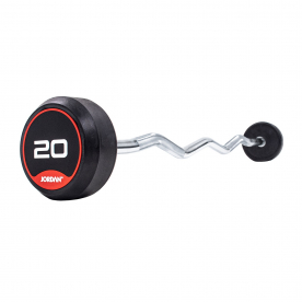 Jordan Fitness 20kg Classic Rubber Barbell with Curl Bar