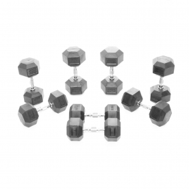 Body Power 12.5-20Kg Rubber Hex Dumbbell Weight Set