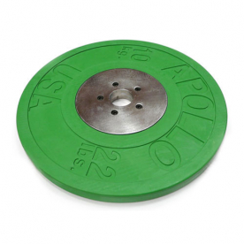 Body Power 10Kg Deluxe Rubber/Chrome Olympic Plates - Green (x2)