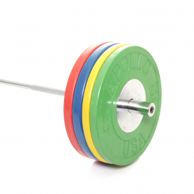 Body Power 160Kg Deluxe Rubber/Chrome Olympic Weight Set