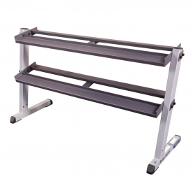 Body-Solid 62 Inch Wide 2 Tier Dumbbell Rack