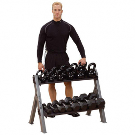 Body-Solid Dual Dumbbell and Kettlebell Rack