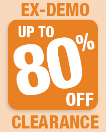Massive Ex-Demo Clearance 80% off!