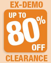 Massive Ex-Demo Clearance 80% off!