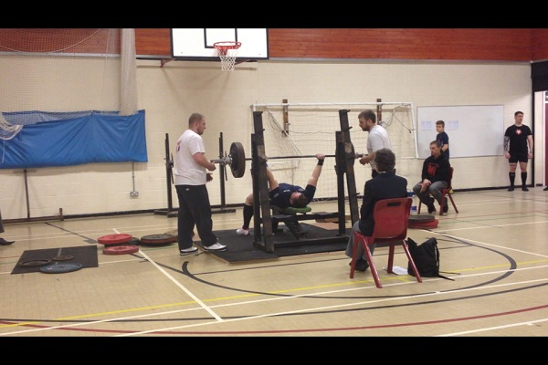 Geraint Llewellyn setting bench press record