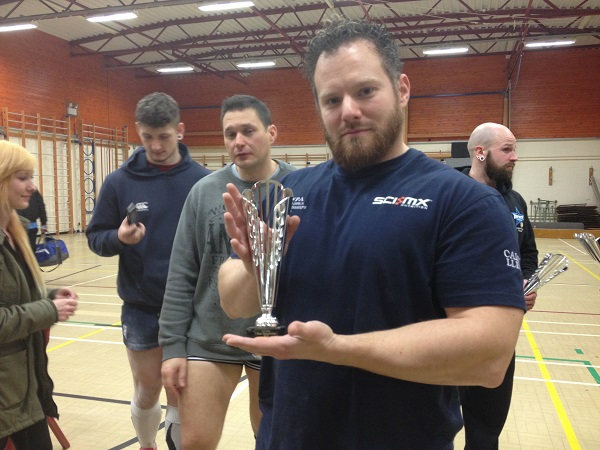 Geraint with BDFPA bench press award