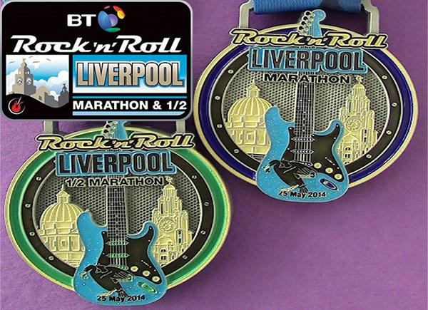 Rock & Roll Liverpool Half Marathon medals