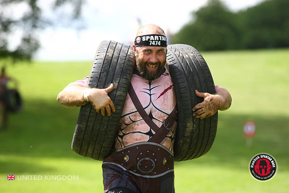 Spartan Race Tyre Carry
