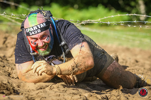 Spartan Race - barbed wire